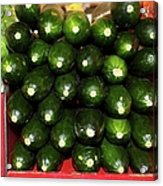 Brussel Sprouts , Cucumbers And Carrots Acrylic Print