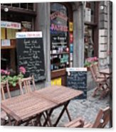 Brussels - Restaurant Chez Patrick Acrylic Print by Carol Groenen