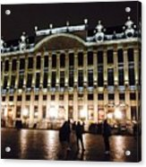 Brussels Lights At Plaza Acrylic Print