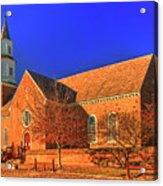 Bruton Parish Church In The Warm Autumn Afternoon Sunlight 6477tmt Acrylic Print
