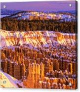 Bryce Canyon Winter Sunrise Acrylic Print