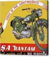 Bsa Bantam Motorcycle Acrylic Print