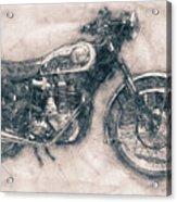 Bsa Gold Star - 1938 - Motorcycle Poster - Automotive Art Acrylic Print