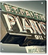 B.t.faith Pianos Acrylic Print