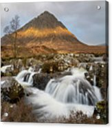 Buachaille Etive Waterfalls Acrylic Print
