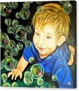 Bubble Baby Acrylic Print