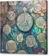 Bubble Clock Acrylic Print