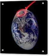 Bubble Earth Acrylic Print