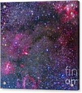 Bubble Nebula And Cave Nebula Mosaic Acrylic Print