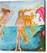 Bubblegum Angel And The Birth Of Venus Acrylic Print