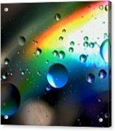 Bubbles Abstract Acrylic Print