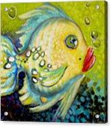 Bubbles Fish Acrylic Print