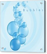 Bubbles In Blue Acrylic Print