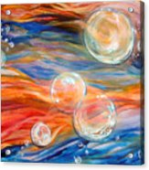 Bubbles In Tumult Acrylic Print