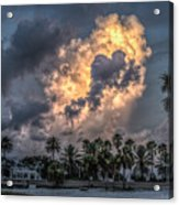 Bubbling Clouds Acrylic Print