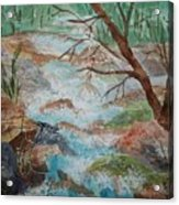Bubbling Falls Acrylic Print