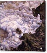 Bubbling Sea Rocks Acrylic Print