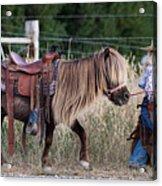 Buckaroo Cowgirl Acrylic Print