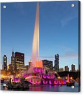 Buckingham Fountain At Dusk II Acrylic Print