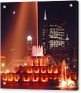 Buckingham Fountain In Chicago 2 Acrylic Print