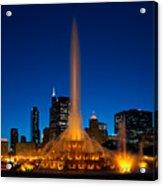 Buckingham Fountain Nightlight Chicago Acrylic Print