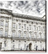 Buckingham Palace London Snow Acrylic Print