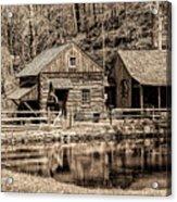 Bucks County - Cuttalossa Mill In Sepia Acrylic Print