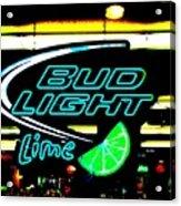 Bud Light Lime Tweeked Acrylic Print