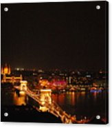 Budapest At Night Hungary Acrylic Print