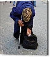 Budapest Beggar Acrylic Print