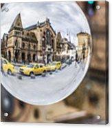 Budapest Globe - Great Market Hall Acrylic Print