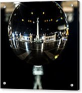Budapest Globe - Heroes' Square Acrylic Print