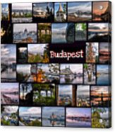 Budapest In October Acrylic Print