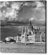 Budapest Parliament From The Chain Bridge Acrylic Print
