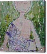 Buddess And Cat Acrylic Print