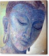 Buddha Alive In Stone Acrylic Print