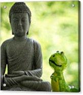 Buddha And Buddy Acrylic Print