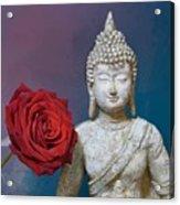 Buddha And Rose Acrylic Print