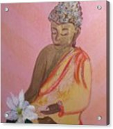 Buddha And The Lotus Blossom Acrylic Print