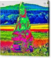 Buddha Dreaming Acrylic Print