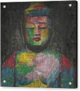 Buddha Encaustic Painting Acrylic Print