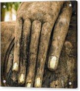 Buddha Hand Acrylic Print by Adrian Evans