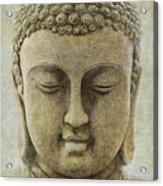 Buddha Head Acrylic Print by M Montoya Alicea
