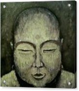 Buddha In Green Acrylic Print