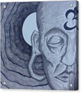 Buddha In Ink Acrylic Print