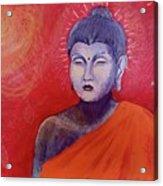 Buddha In Red Acrylic Print