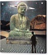 Buddha In Saturn Acrylic Print
