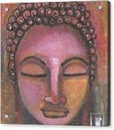 Buddha In Shades Of Purple Acrylic Print