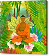 Buddha In The Jungle Acrylic Print