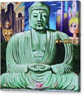 Buddha In The Metropolis Acrylic Print
